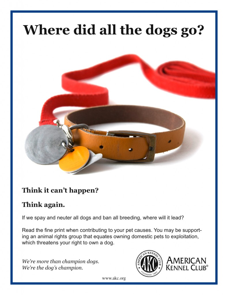"""AKC poster """"Where did all the dogs go?"""